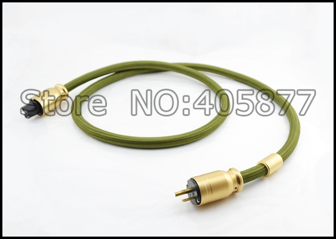 цена на 1.5meter Hifi audio FP-3TS20 US power cable with gold plated US power connector cable
