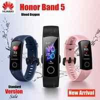 Nuovo 2019 Originale Huawei Honor Fascia 5 Standard Versione di Smart Braccialetto di Ossigeno Nel Sangue Monitor Ossimetro Salute Wristband Uomo Donna
