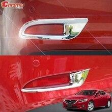 Для Mazda 6 Atenza GJ 2013 хромированный задний противотуманный фонарь, противотуманный светильник, крышка для лампы, отделка рамы, украшение автомобиля