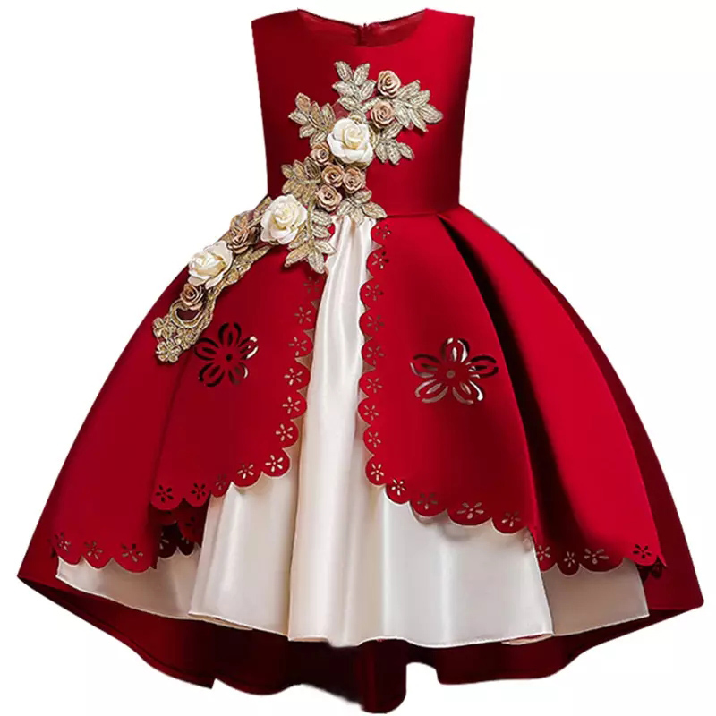 Children-Dress-Elegent-Beaded-Flower-Girls-Princess-Tutu-Party-Dress-for-Baby-New-Year-Christmas-Clothing (1)