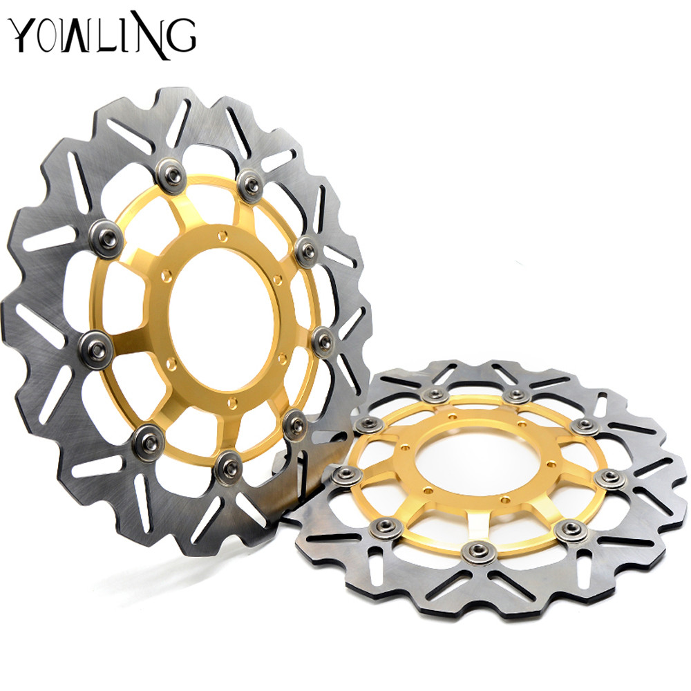 2 px Motorcycle Parts Accessories Modified flower Front Floating Brake Disc Rotor for HONDA CBR600 2007-2013 CBR600RR 2003-2014 motorcycle parts front