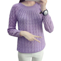 2016 Autumn New Fashion Sweet Women S Sweater Long Sleeve Casual Pullovers Solid Elegant Tops 6