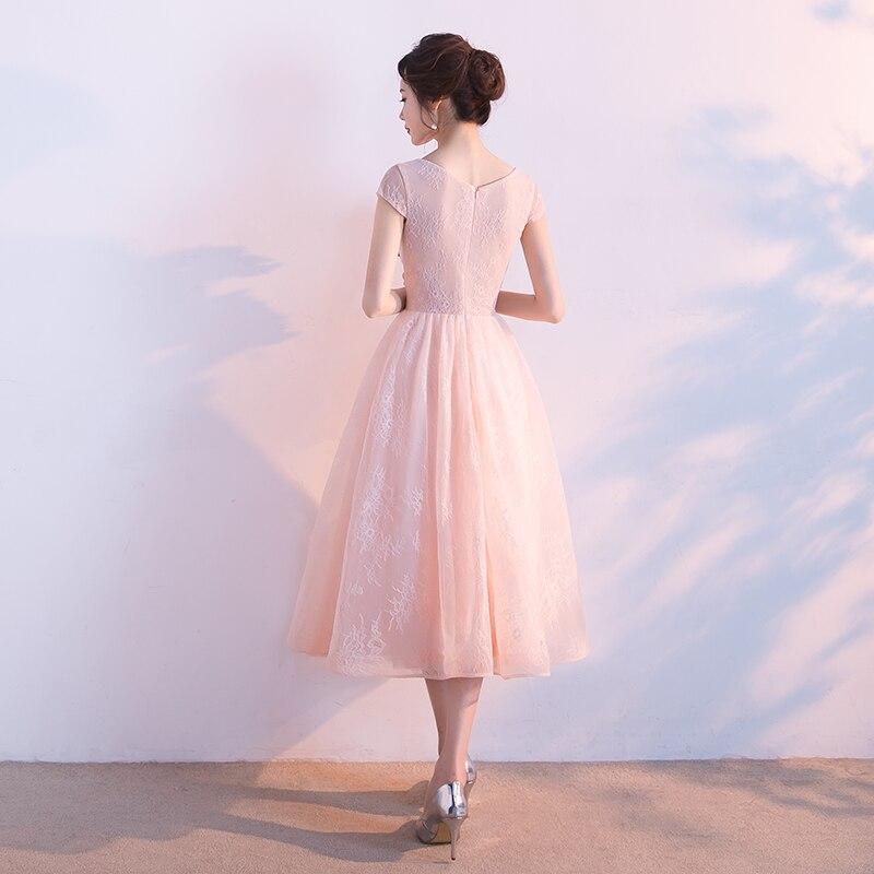Elie Saab robe De soirée 2019 Tulle avec appliqué perlé pour bal De mariage thé longueur Vestidos De Noite Para Casamento - 6