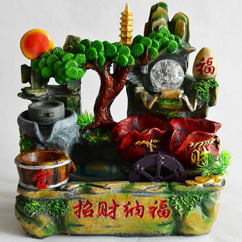 v chino feng shui suerte fuente de agua cisterna de de agua inicio bonsai
