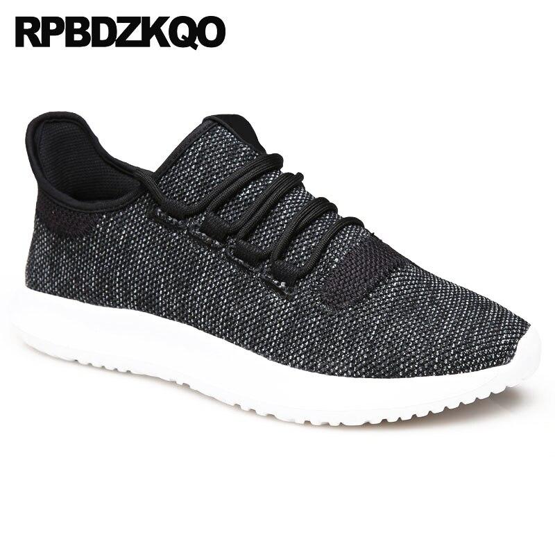 Designer Dedo Up Redondo Respirável Lace Pé Black Malha white Homens Moda Preto Conforto 2018 Sapatos Casuais Do Sapatilhas Verão De Branco qXTddwEx