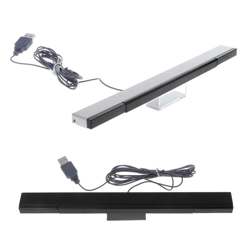 OOTDTY Sensor Bar Wired Receivers IR Signal Ray USB Plug Replacement For Nitendo Remote