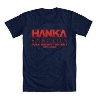 Fashion Funny Tops Tees Ghost In The Shell Inspired HANKA Robotics Men S T Shirt Print
