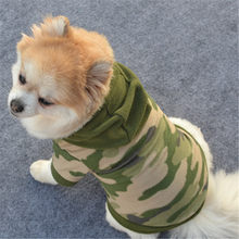 Dog Pet Plush Sweater Clothes Hoodie Warm Sweater Puppy Coat Apparel Creative camouflage Leisure Fashion ropa perro pequeño(China)