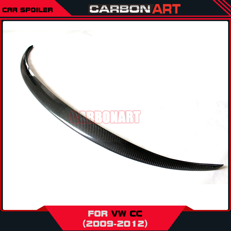 For vw volkswagon CC automobile wing spoiler accessories car styling product rear trunk winglets 2009-2012 vw replacement genuine carbon fiber rear trunk spoiler wing back rear spoiler for volkswagen passat 2011 2015 car styling