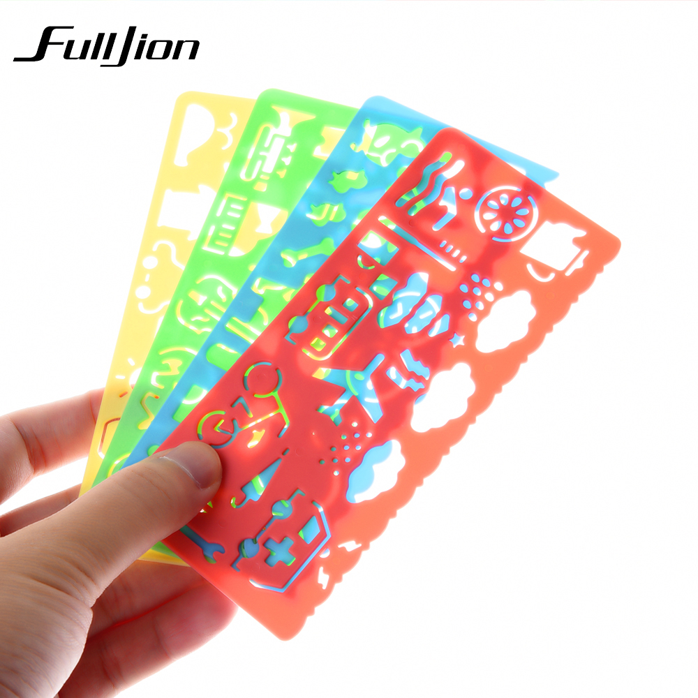 Fulljion-4-pcs-Template-Ruler-Kids-Learning-Education-Drawing-Toys-Board-Painting-Tools-School-Stationery-Spirograph-Sketchers-1