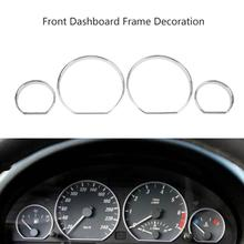 VODOOL 4pcs Car Front Dashboard Decoration Frame Auto Car Front Styling Cover
