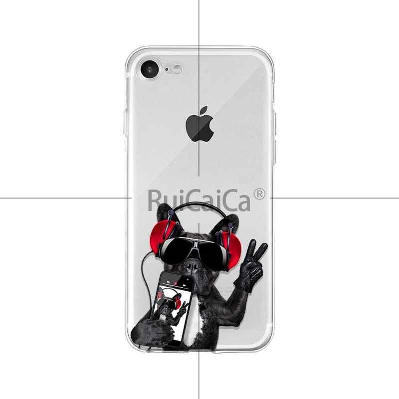 Ruicaica Cucciolo Carino Pug Fresco Francese Bulldog Cane Cassa Del Telefono per il iphone di Apple 8 7 6 6 S Plus X XS MAX 5 5 S SE XR Mobile Custodie