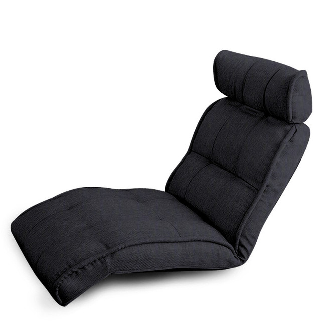Modern Foldable Reclining Floor Chaise Lounge Living Room Furniture Fabric Upholstery Recliner Lounger Sofa Chair Daybed Sleeper