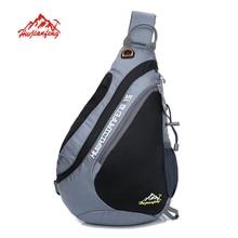 De los hombres al aire libre hombro bolsa de mensajero bolsa de turismo de ocio fitness deportes bolsa de gran capacidad paquete pecho montar mochila
