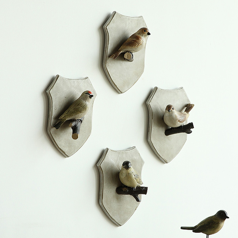 Creative Bird Christmas Gift Nordic Country Home Furnishing Decoration Bird Coat Hook Hanging Listing Mural Ornaments