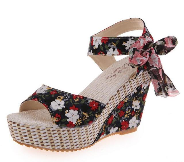 faad899e6 New Arrival Ladies Shoes Women Sandals Summer Open Toe Fish Head Fashion  Platform High Heels Wedge Sandals Female Shoes Women