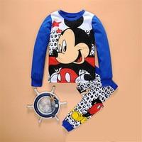 Baby Boys Girls Pajamas Sets Minnie Mouse Kids T Shirts Pants Suits 2017 Children Pyjamas Clothing