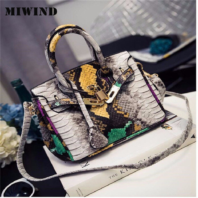 2106 ladies big bag crocodile skin high-quality handbags fashionable female postal difference bag lock shoulder bag handbag lady