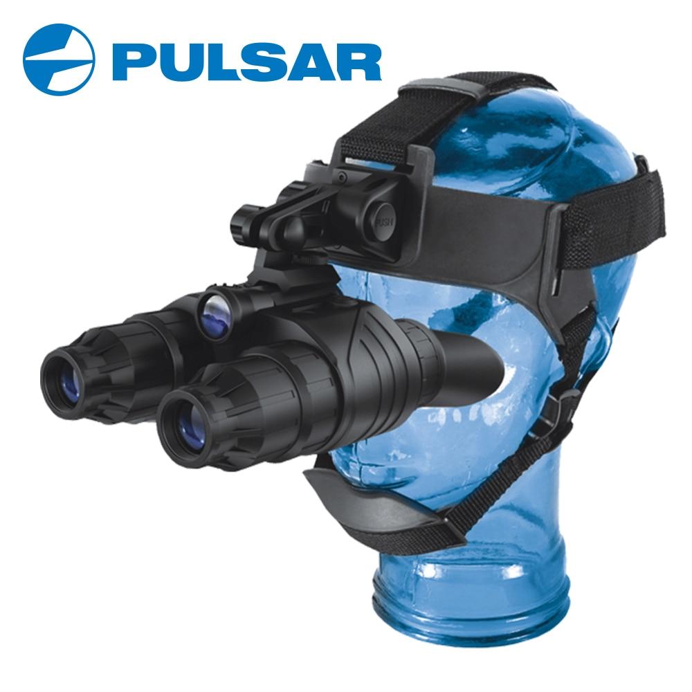 Pulsar супер 1st + поколения бинокль очки край GS 1x20 ночное видение компактный крепления головы Охота Тактический #75095 черный