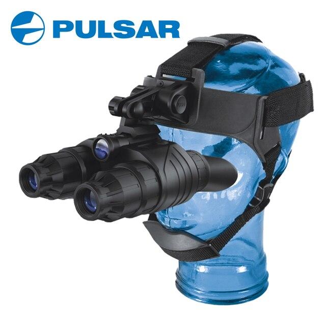 Pulsar Super 1st+ Generation Binoculars Goggles Edge GS 1x20 Night Vision Compact Head Mount Hunting Tactical #75095 Black