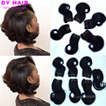 Cheveux Bresilien Avec closure 8 inch Short Curly Hair With Closure Tissage Bresilienne Body Wave Summer Short Bob Weave Bundles