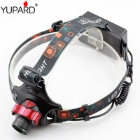 YUPARD 3 Mode XM L T6 LED Inductive Headlight Infrared Sensors Headlamp Rechargeable Torch Light For Camping Fishing