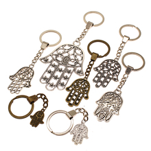 Double Sided Hand Key Chain Charms Of Fatima For Diy Handmade Gifts Keychain