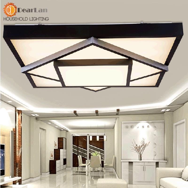 breve estilo moderno cuadrado led luz de techo del led lmpara de luz restaurante sala