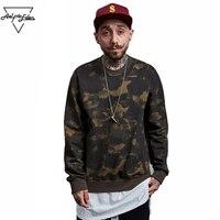 2016 Brand Warm Autumn Winter Hoodies Men Army Camouflage Yeezy Long Sleeve Men Streetwear Hip Hop