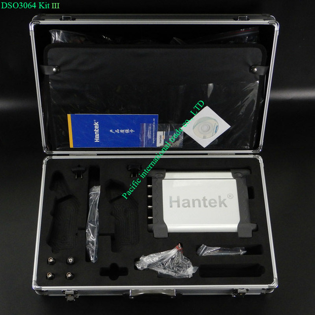 Special Offers Hantek DSO3064 Kit III Automotive Car Diagnostic Oscilloscope USB 2.0 4CH 200MS/s 60MHz EXT trigger Factory Direct sales