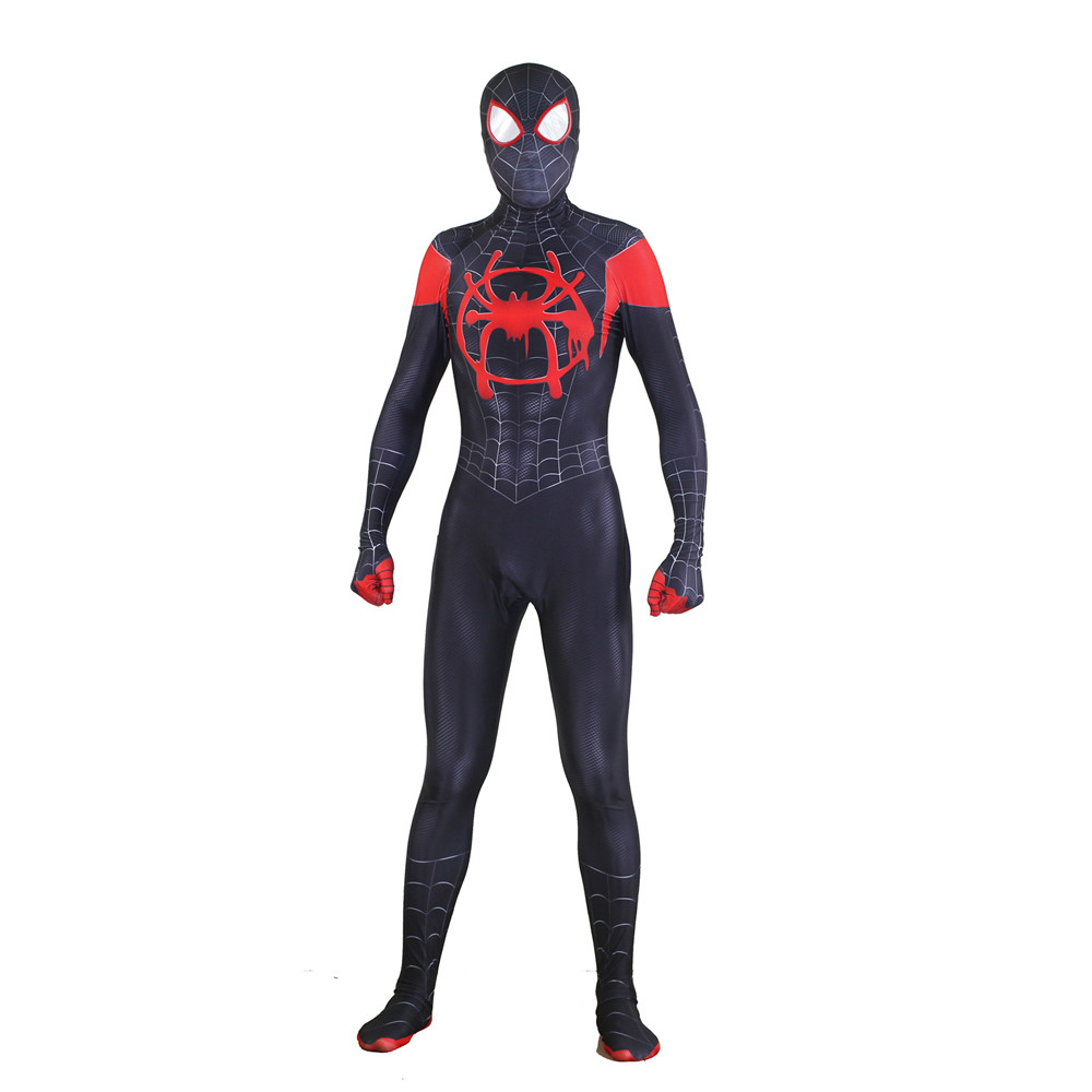 Spider-Man: Into the Spider-Verse New Era Black Spider Man Halloween Cosplay Costume For Kids Adult