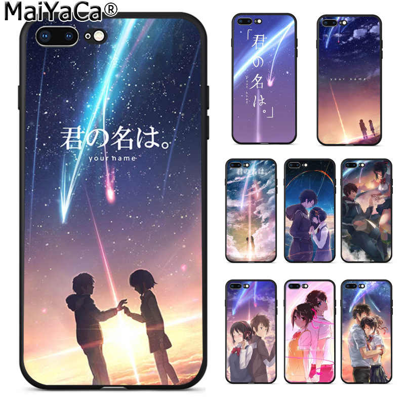 MaiYaCa Japanese Anime Your Name Kimi no Na wa Colorful Smart Cover Phone Case for iPhone 8 7 6 6S Plus 5 5S SE XR X XS MAX