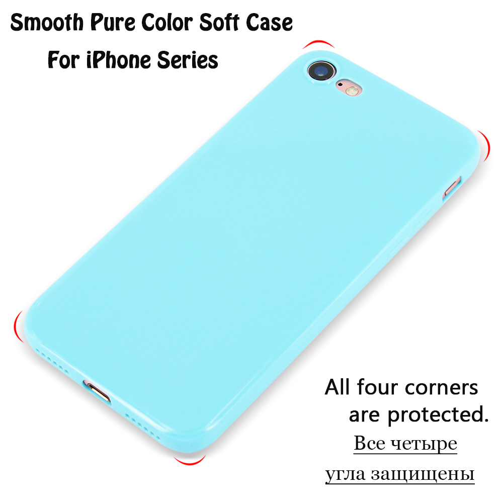 KIP71147_8_Smooth Pure Color Series Soft TPU Case for iPhone 7