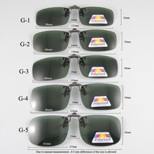 Polarized Sunglasses Clip-on Mater Bridge Can up Clip on Sunglasses Men Women Sun Glasses Eyeglasses Lens Clear Driving Goggles