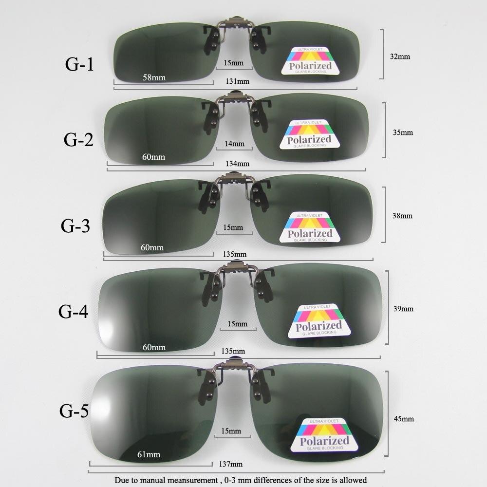 Polarized Sunglasses Clip-on Mater Bridgs