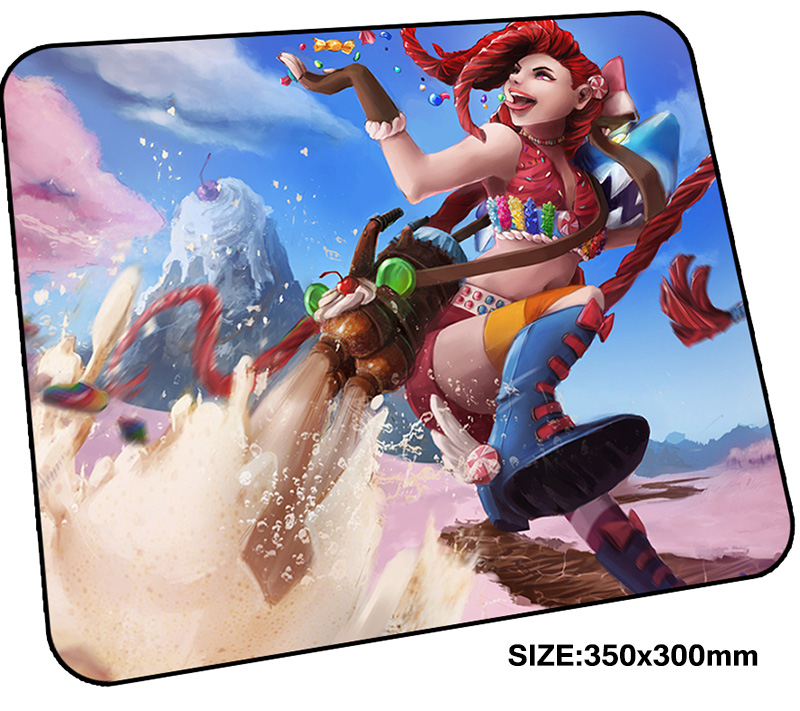 jinx mousepad gamer 350x300x3mm gaming mouse pad Customized notebook pc accessories laptop padmouse Personality ergonomic mat