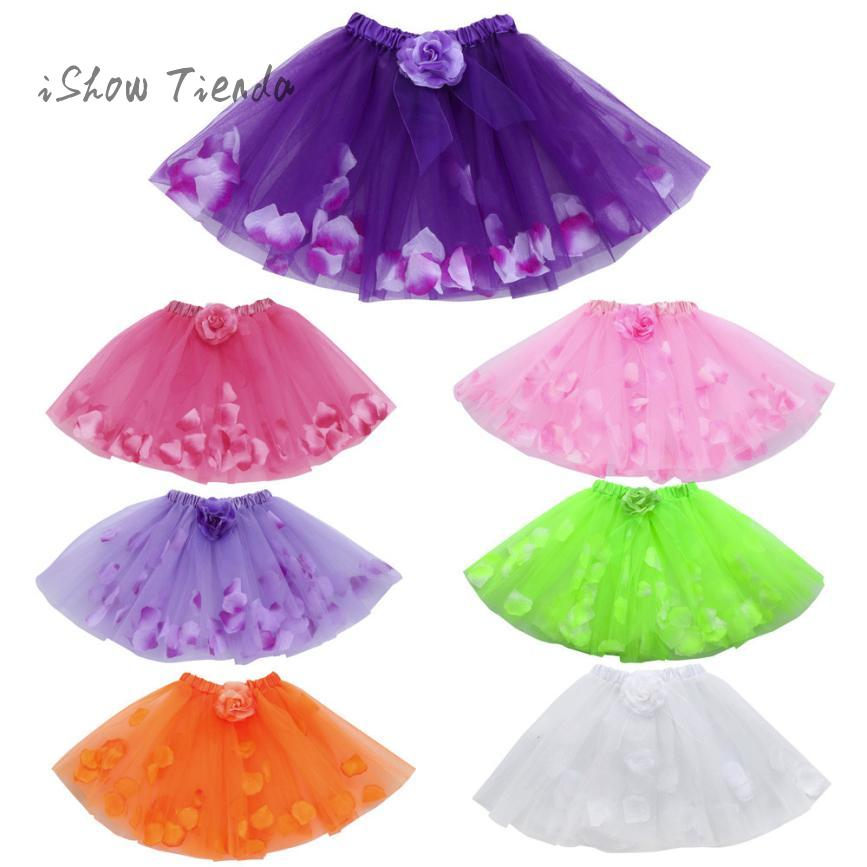 Фото ISHOWTIENDA dance Floral Ballet tulle dress Party dress of anger performance Princess costume Ball Gown child dress girls alsa