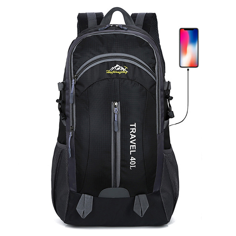 40L Waterproof Travel Hiking Backpacks For Men Male Unisex Sport Bag Pack USB Outdoor Mountaineering Climbing Camping Bag 2019