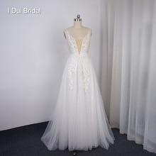 Boho lekka suknia ślubna Shinny Sparkle tiulowa plażowa suknia ślubna w nowym stylu