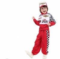 Kids Boys Costume Driver Racing Halloween Costume Birthday Gift For Boys Child Racers Car Driver Fancy Dress Boy Set 90 150cm