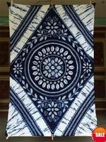 Japanese Shibori Tie Dye Arts Gorgeous Adornment Arts Unique Original Design Handmade Kanoko Table Cloth Many