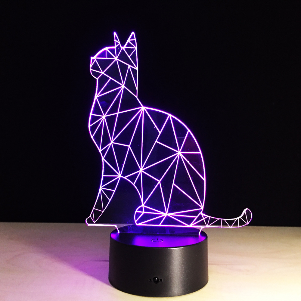 Newest Design Night Lamp Cute Cat Touch Switch USB LED