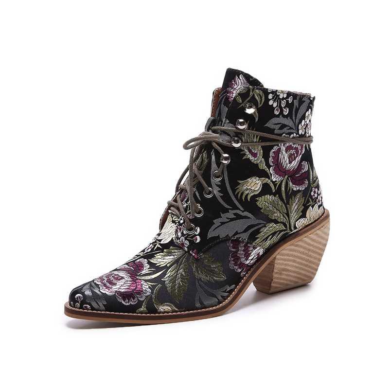 2019 Yeni Kadın Lüks Ipek Botlar martin bilekli çizme Yeni Sonbahar Kış Oyalamak Bayan Motosiklet Botları bağcıklı ayakkabı Kadın