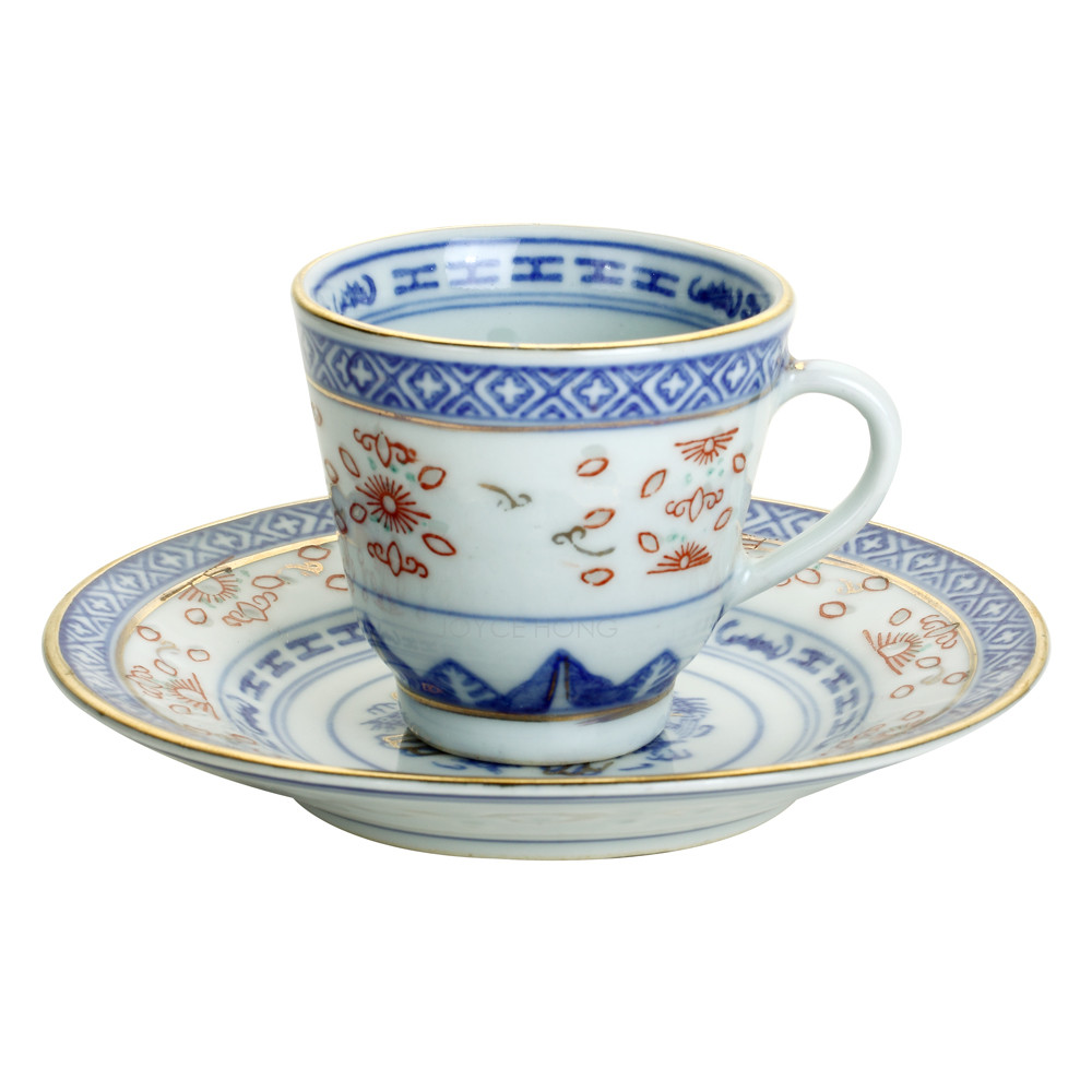 Ceramic Coffee Cup With Saucer Porcelain Espresso Cups Tea Cups Mugs 60ml in Coffeeware Sets from Home Garden