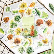 46pcs/box Lovely The Norway Forest  Diary Handmade Paper Label Sealing DIY Decorative Stickers Stationery
