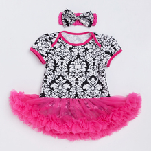 Newborn Baby Girl Clothes Cotton Casual Toddler Baby Rompers Pink Ruffles Tutu Dress with Headband New Infant Baby Clothing Set rose skirt sets for girl clothing body pink bodysuit with ruffle tutu dress infant clothing summer seaside holiday 4pcs set