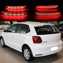 1 Set LED Reflektör Lambası Arka Sis Lambası Tampon Işık Fren Işık Dönüş sinyal ışığı Için Volkswagen Vw Polo 2014 2015 2016 201...