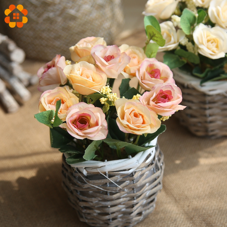 10 headsbranch lovely artificial flowers silk rose flowers diy 10 headsbranch lovely artificial flowers silk rose flowers diy flower bouquet wedding favors for wedding home vases decoration in artificial dried izmirmasajfo