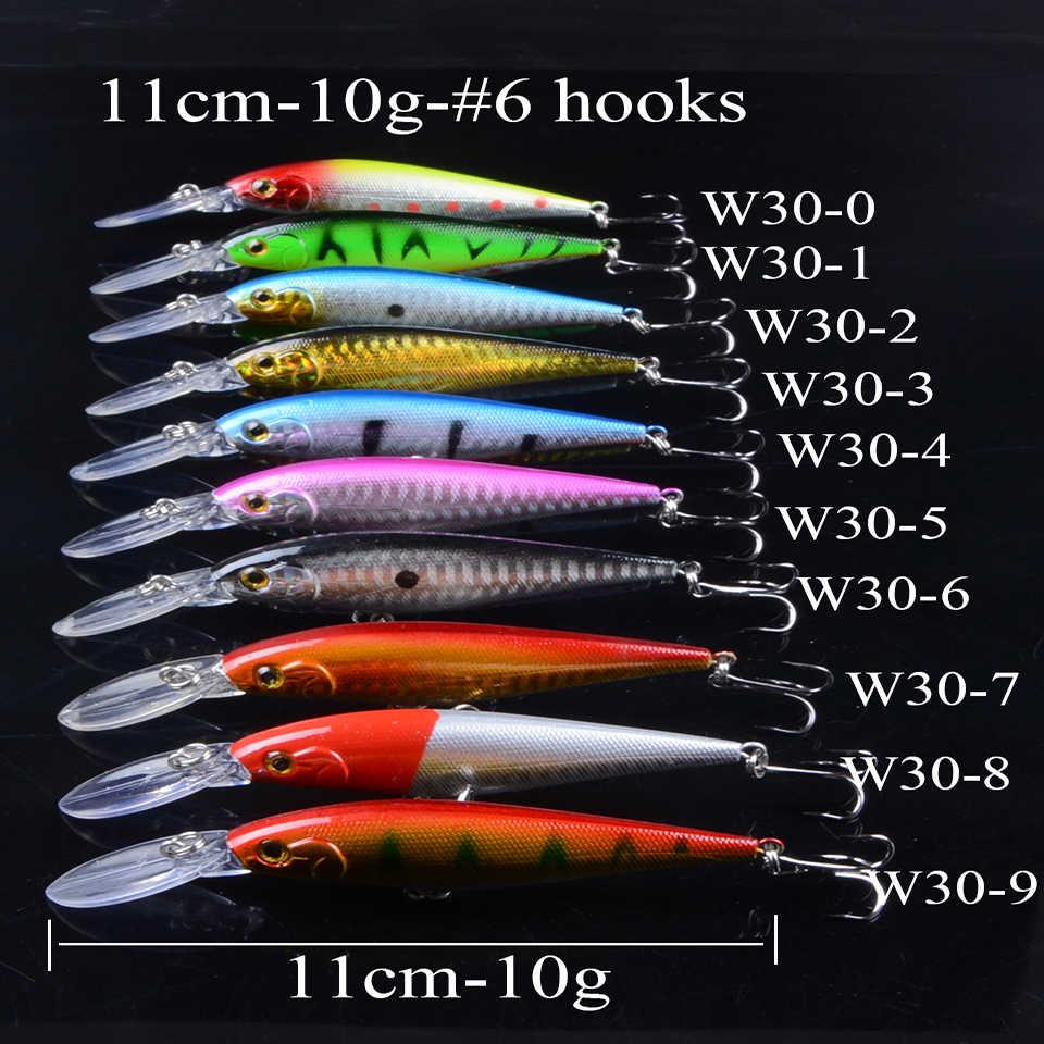 1 قطعة الطعم الاصطناعي الصيد السحر البلمة Crankbaits باس الطعوم Wobblers مجموعة نابض بالحياة وهمية الصيد الطعم معالجة 50 ألوان 3D عيون