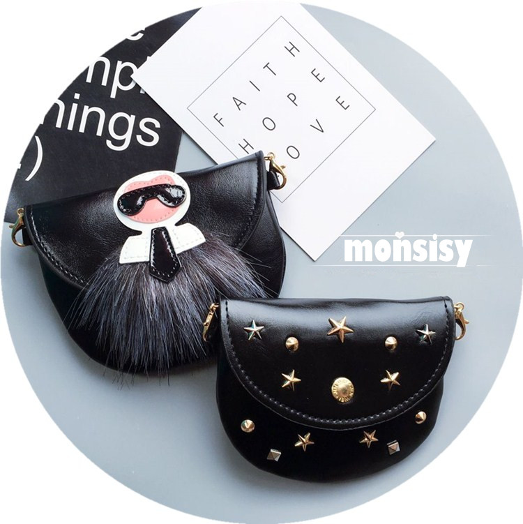 Monsisy Punk Bag For Girl Boy Children Handbag PU Leather Shoulder Bag For Baby Purse Wallet Metal Chain Kid Rivet Messenger Bag  2016 fashion mini laser metal chain letters pu leather clutch purse wallet chain messenger bag shoulder bag handbag 6 colors